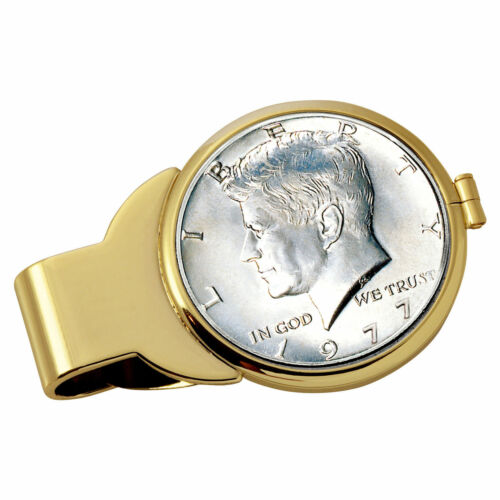 NEW Year to Remember Goldtone Half Dollar Coin Money Clip 1969