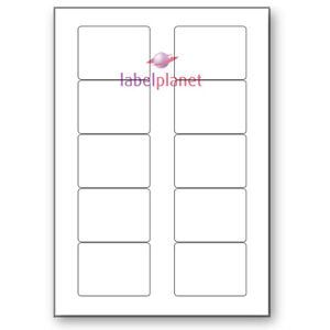 10 Per Page White A4 Self-Adhesive Laser//Inkjet Diskette Labels Label Planet®