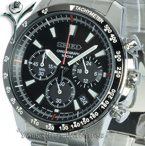 Seiko-Quartz-Charcoal-Black-Dial-100m-With-Stainless-Steel-Chronograph-SSB031P1