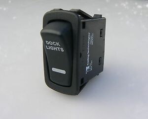 Carling Technologies 4 Terminal L11D1 Dock Lights Rocker Switch for ...