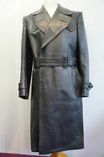 "VINTAGE WW2 GERMAN OFFICERS HORSEHIDE LEATHER COAT JACKET SIZE 38"" - 40"""