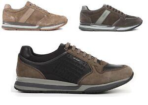 GEOX AMPHIBIOX SANDRO U44S7A NERO scarpe uomo pelle sneakers casual camoscio
