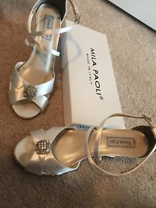 558a97da45cd Image is loading Mila-Paoli-Womens-Shoes-Size-8-Wedges-bridal