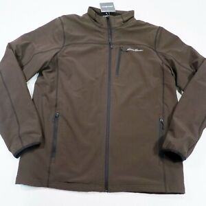149-Men-039-s-Eddie-Bauer-Stratify-Lined-Jacket-Large-Tall-Brown-NWT