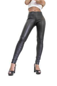 de en v d'agneau en Pantalon pour cuir cuir cuir Legging dames nappa AxPpqzwpd