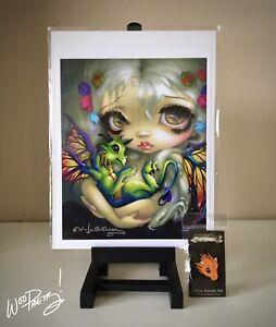 JASMINE BECKET GRIFFITH Darling Dragonling IV - SIGNED Art Print + Dragon Pin