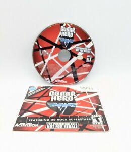 Guitar Hero Van Halen (Nintendo Wii) Disc Only - Tested & Works Rhythm Game*Read