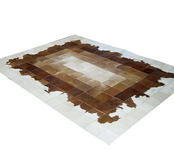 NEW Cowhide Rug Patchwork Cowskin Cow Hide Leather Carpet. Made in Silberina.
