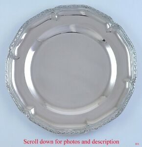 Antique C1890 German 800 Silver Serving Tray Platter Charger 12 Diameter Ebay