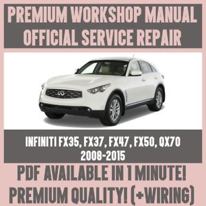 workshop manual service repair for infiniti fx35 fx37 fx45 fx50 qx70 rh ebay co uk 2007 Infiniti M35x 2007 infiniti fx35 repair manual pdf