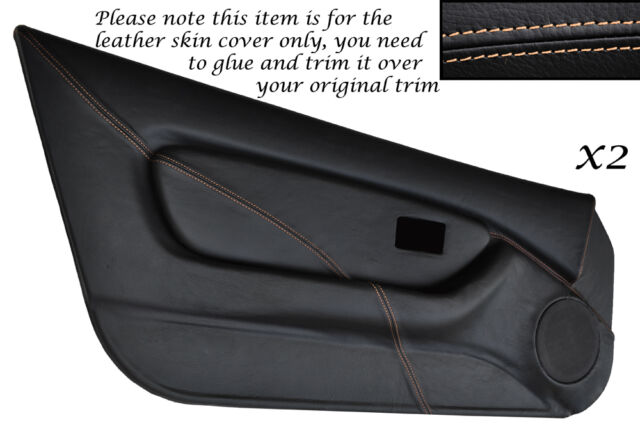 CREAM STITCH 2X FULL DOOR CARD TRIM LEATHER SKIN COVERS FITS MG MGF MK1 95-99