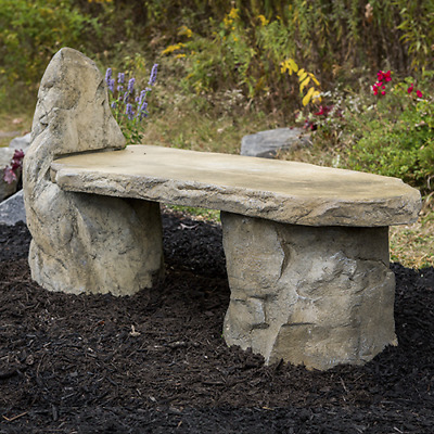 Cast Stone Basalt Lounge Garden Bench Ebay
