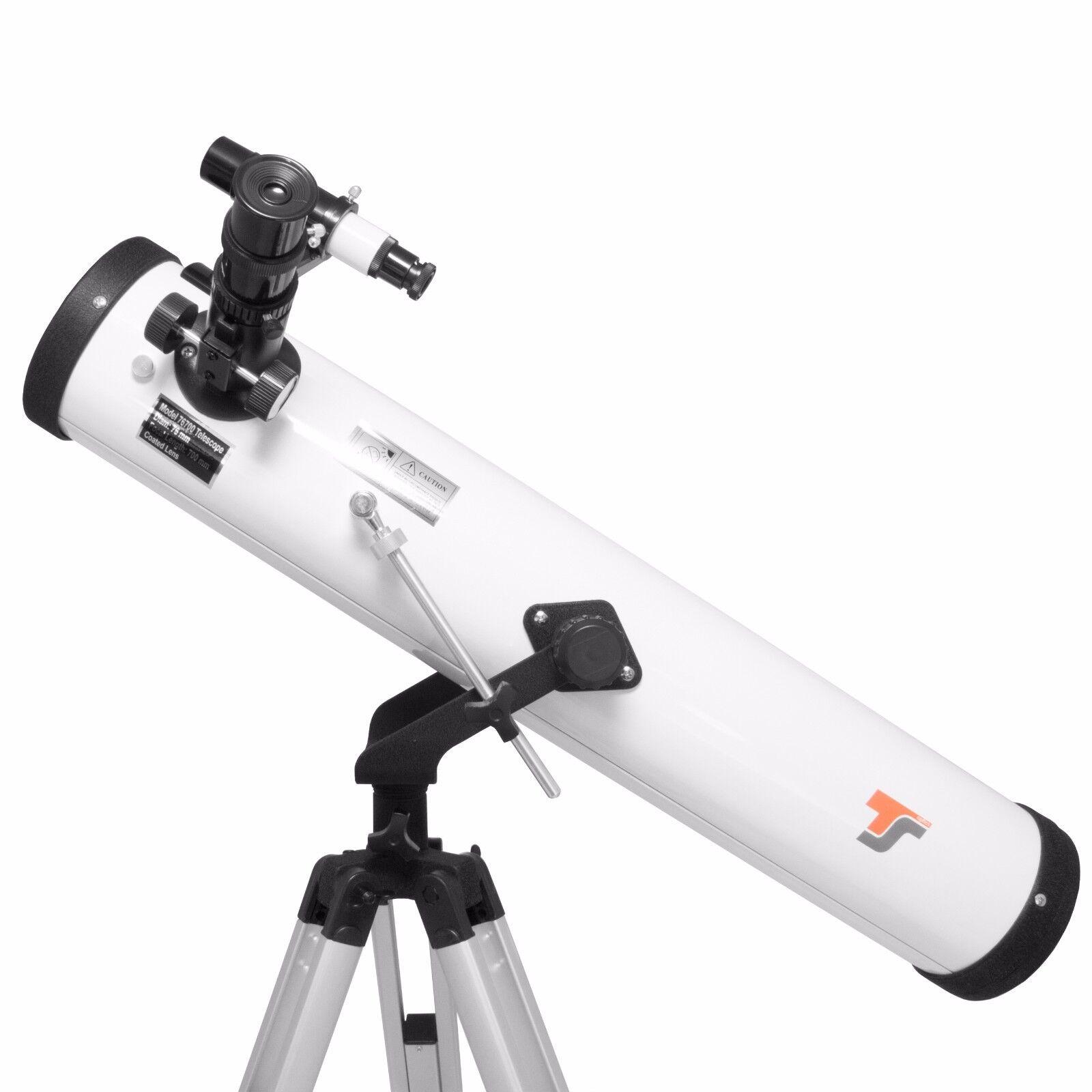 Einsteiger Teleskop 76 700 mm Komplettset + Buch Starscope767 + Teleskop1x1