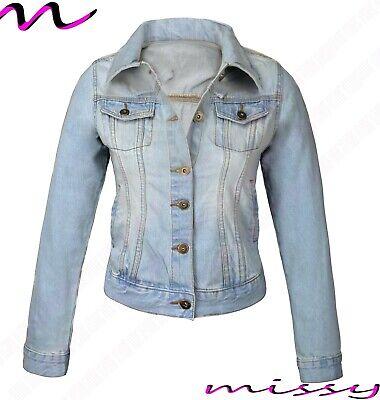 NEW PLUS SIZE DENIM JACKET Womens Jean Jackets LADIES Cropped Waistcoat 8-24 BLM