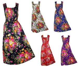 100-Cotton-Long-Boho-Maxi-Dress-Sleeveless-Party-Evening-Size-14-16-18-20-22-24