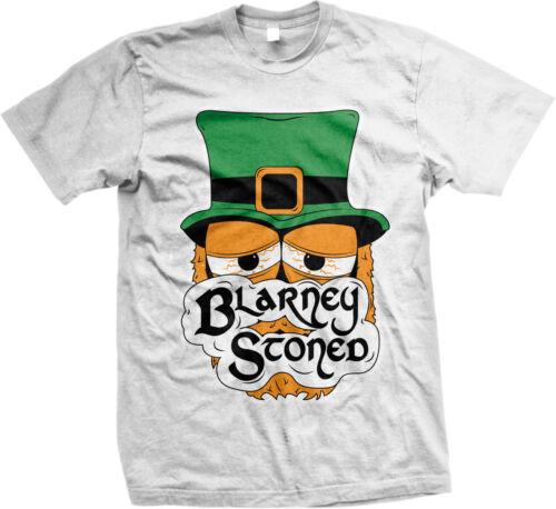 Blarney Stoned Irish Stoner Humor Funny Weed Pot St Patricks Day Mens Tshirt