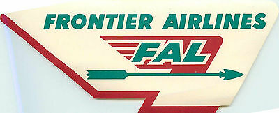 FRONTIER AIRLINES - Great Old Luggage Label, c. 1955