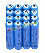 16x AAA 1800mAh 1.2V Ni-MH Rechargeable battery 3A Blue