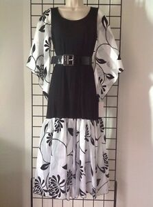 Kerry Damiano Designer Medium Belted Maxi Dress Nwt 195