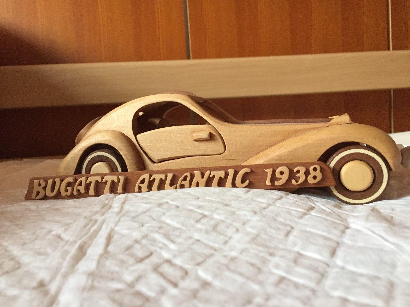 Modellauto Bugatti Atlantic 1938 1938 1938 in Holz 8d837c