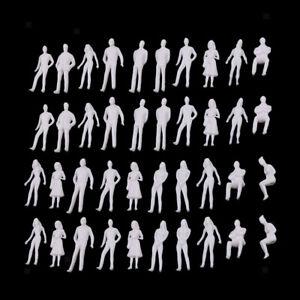 40 Stücke 1//50 1//100 O Skala Unlackiert Modell Menschen Miniaturfiguren