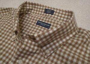 Peter-Millar-Collection-100-Cotton-Brown-Gingham-Sport-Shirt-NWT-XL-248