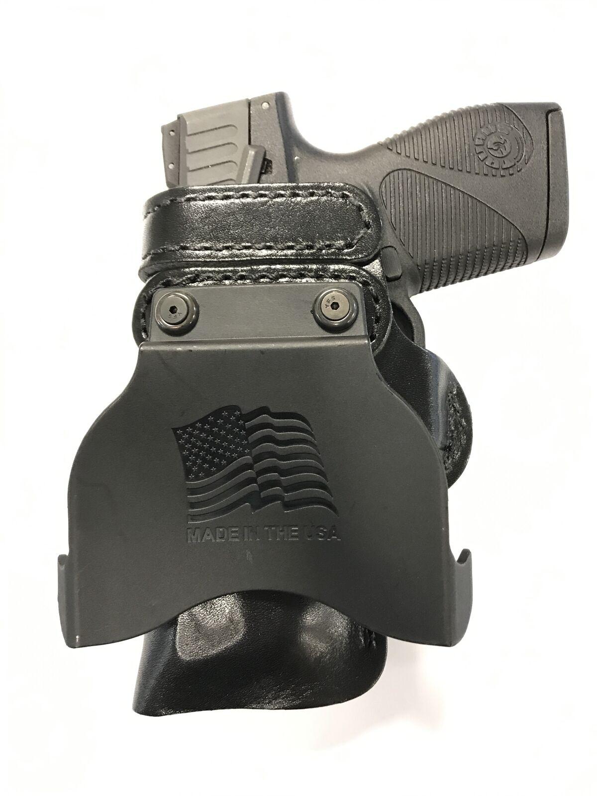Cuero Kydex Remo Funda Pistola LH RH para marrónING 1911 380 Tamaño Completo
