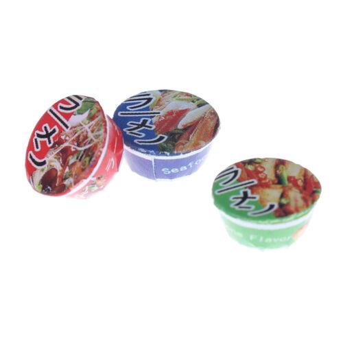 3pcs casa delle bambole CUP NOODLES in miniatura 1:12 Cucina Cibo giocattolo Simulazione Zuppa R