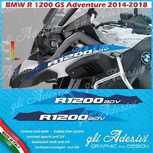 2 Adesivi Becco Parafango Moto Bmw R 1200 Gs Adventure Lc Blu Line