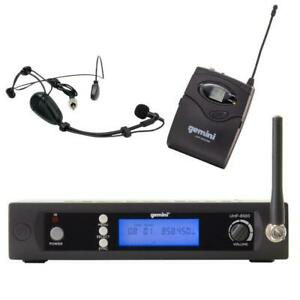 Gemini UHF-6100HL UHF Wireless Microphone System Multiple Channel Headset and Body Pack Toronto (GTA) Preview