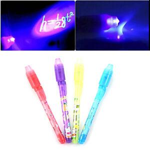 Invisible-Ink-Spy-Pen-mit-eingebautem-UV-Licht-Magic-Marker-WeihnachtsgeschenkYR