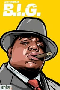 PLAQUE EN MÉTAL VINTAGE NOTORIOUS BIG  30 X 20 CM