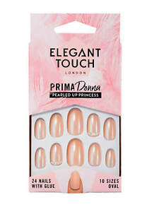 Elegant-Touch-PRIMA-DONNA-Oval-Nails-Pink-Pearled-Up-Princess-Proud-NEW