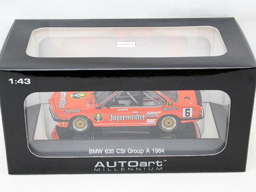 Bmw 635 CSI Dimensione a Teatro 1984 DTM car Jägermeister 1 43 Autoart 68446