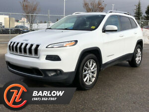 2015 Jeep Cherokee 4WD / Limited /Heated Leather Seats / Sunroof