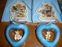 Lot Of 4 Cherished Teddies Ornaments