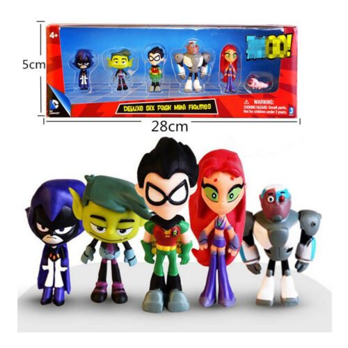 Teen Titans gehen Held Raven Robin Cyborg Starfire Kinder Figure Spielzeug