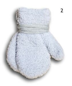Four Pairs Fleece Winter Gloves Mittens for IAges 3-24 Months
