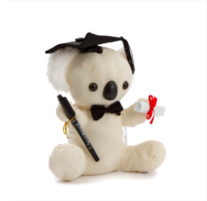 Calico-Graduation-Signature-Plush-Koala-Toy-with-Pen-Keepsake-25cm-NEW