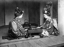 Photo. ca 1915. Japan. Women Playing Game of Go
