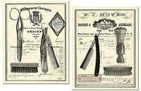 Classic Vintage Barber Shop Salon Prints By Tre Sorelle Studios; Two 11x14in ... on Sale