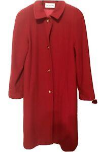 Preston & York ladies Lamb's Wool Long Coat Red