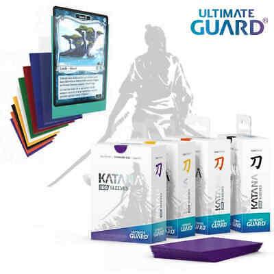 10 Packs Ultimate Guard Katana Sleeves Yellow Standard Size Cards Display Box