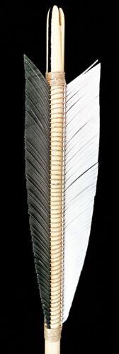 1 DOZ 6 1//4 INCH MEDIEVAL STYLE FLETCHES suit longbow arrows archery
