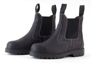 Rhinegold-Tec-Steel-Toe-Safety-Work-Boots-Jodhpur-style-Certified-CE20345-SB