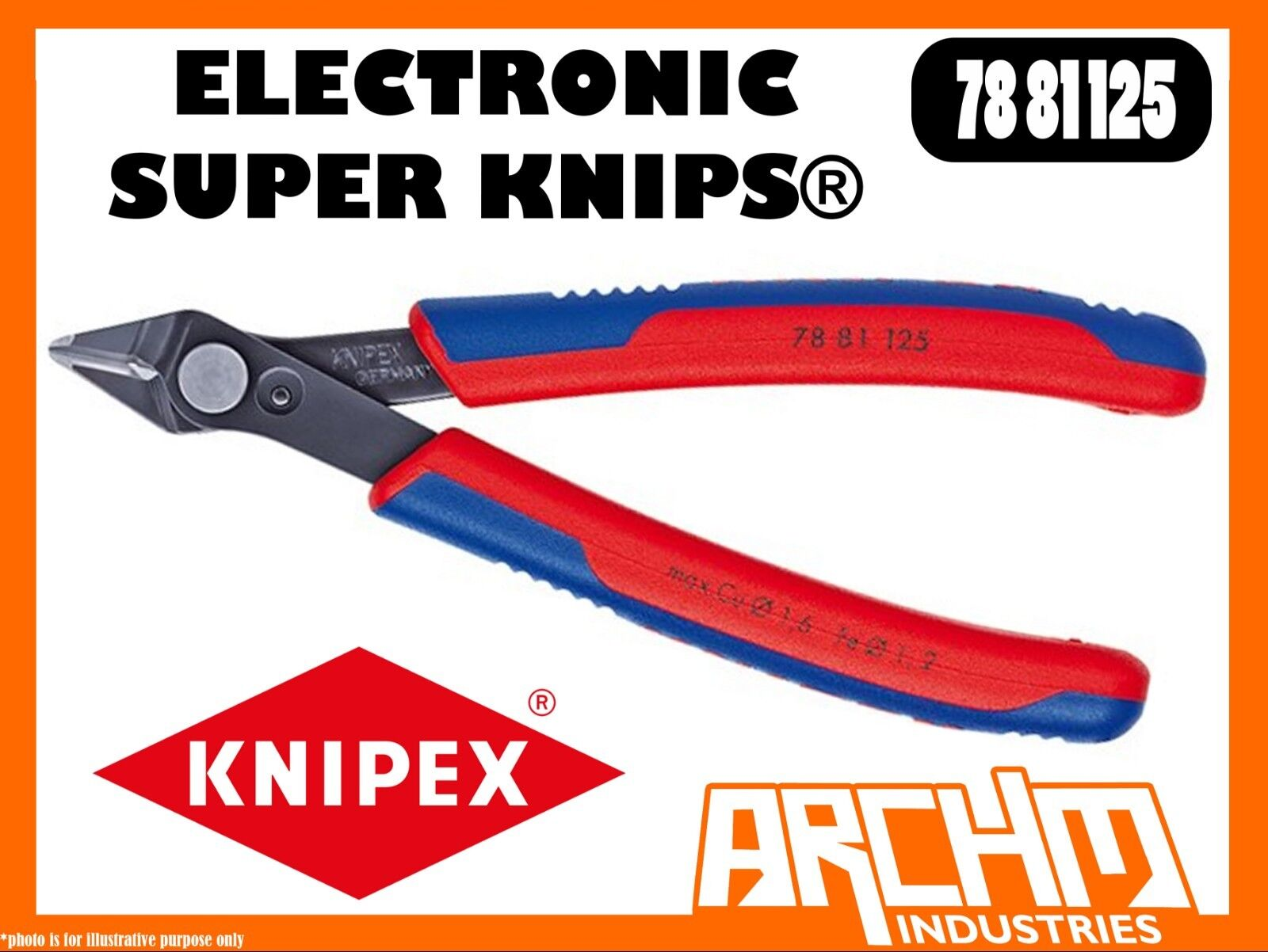 KNIPEX 7881125 - ELECTRONIC SUPER KNIPS® 125MM - PLIERS CUTTING EDGES BURNISHED