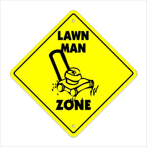 Lawn Man Crossing Decal Zone XingIndoor//Outdoorcut grass service yard
