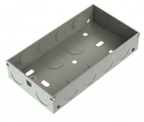 5 Pack Metpro Double Metal Back Box 25mm Steel Switch /& Socket Box EWS 3