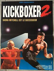 Affiche-KICKBOXER-2-LE-SUCCESSEUR-Sasha-Mitchell-PETER-BOYLE-40x60cm