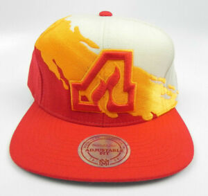 CALGARY-FLAMES-NHL-MITCHELL-amp-NESS-PAINTBRUSH-VTG-SNAPBACK-CAP-HAT-NEW-RARE